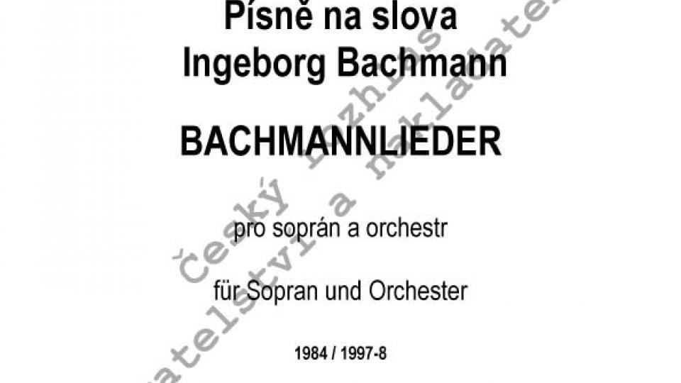 Jiří Gemrot - Písně na slova Ingeborg Bachmann