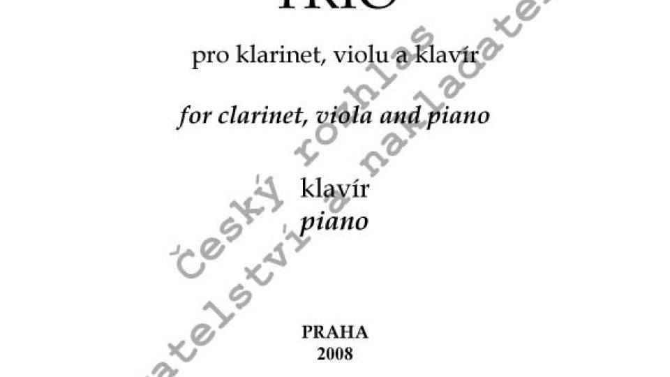 Hanuš Bartoň - Trio pro klarinet, violu a klavír