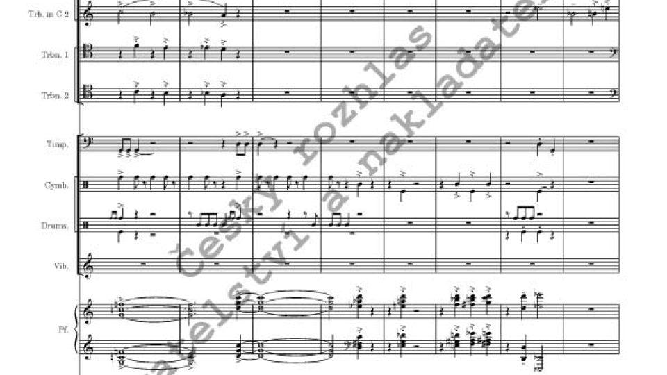 Jan Novák - Capriccio/partitura