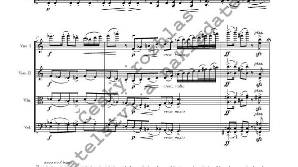 Vítězslava Kaprálová - Smyčcový kvartet č. 1, op. 8