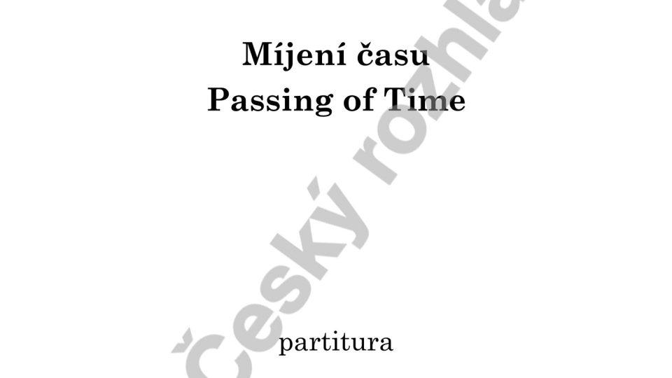 Míjení času - Hanuš Bartoň