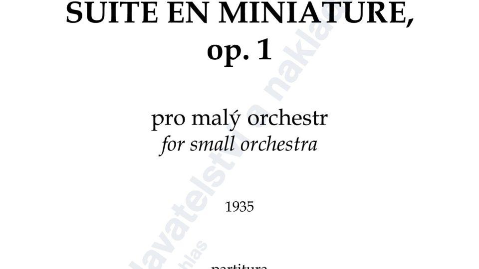 Suite en miniature - Vítězslava Kaprálová