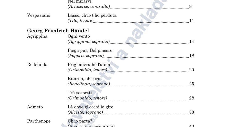 Barokní operní árie - Jiří Kotouč (ed.)