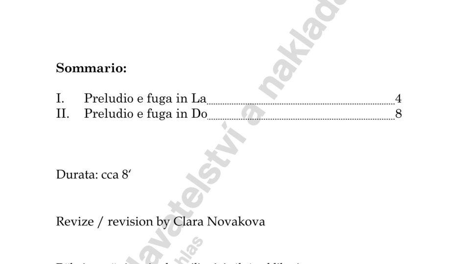 Due preludi e fughe per flauto solo - Jan Novák